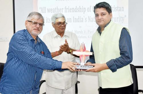 Prof Harsh V. Pant on 'All Weather Friendship of China-Pakistan and its impact on India's National Security.'